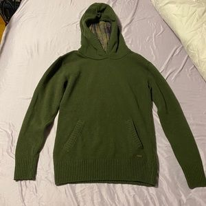 Barbour Green Hooded LambsWool Sweater